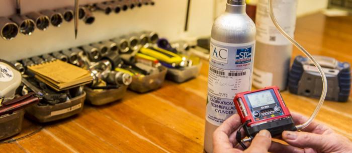 calibration of portable gas montiors