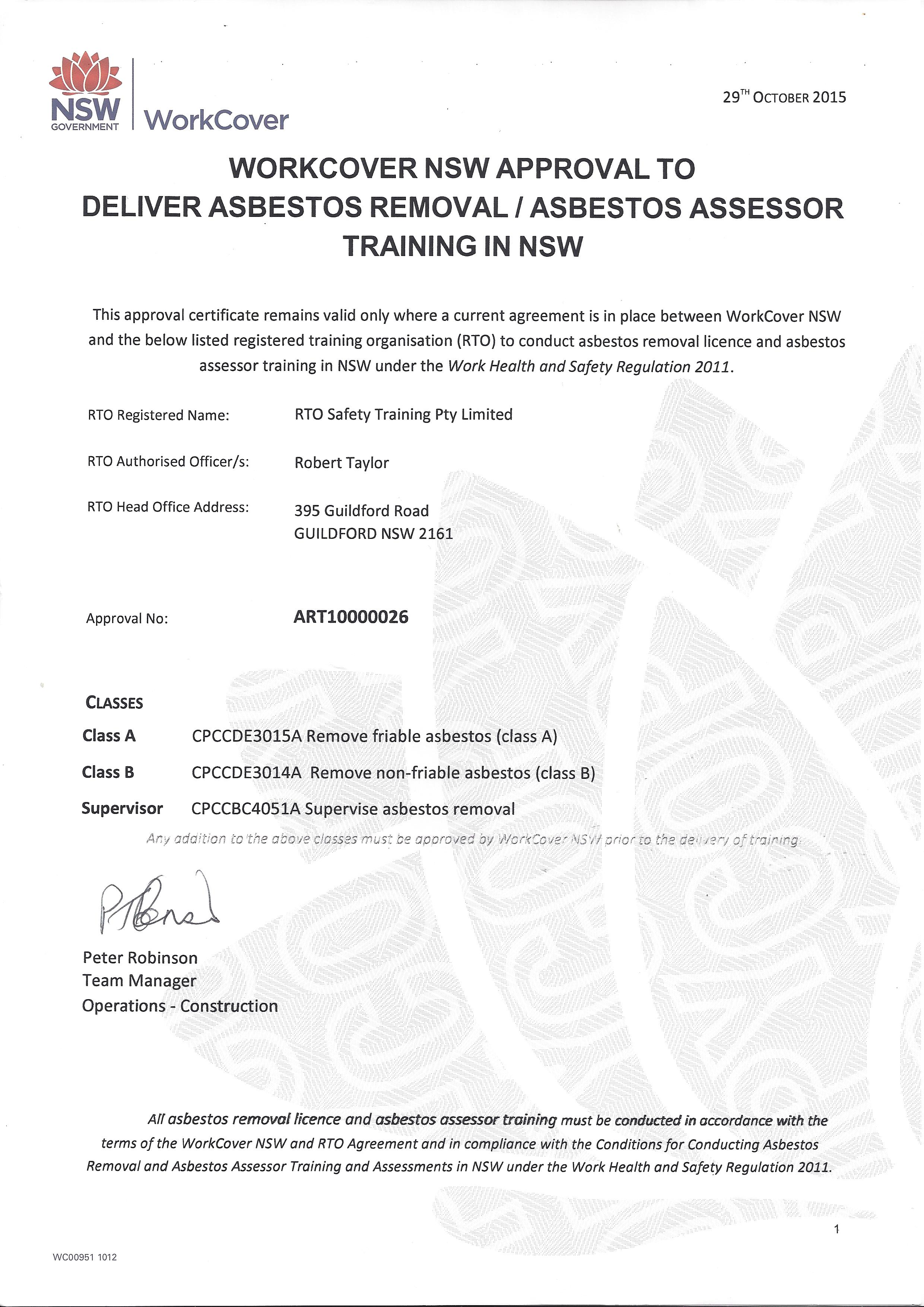 Asbestos removal training courses sydney safety training remove non friable asbestos asbestos wc yelopaper Choice Image